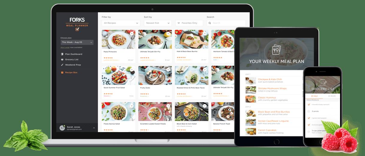 forks meal planner plant based meal planning made easy